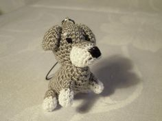 Crocheted keychain - Dog - Schnauzer