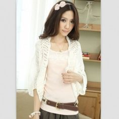 Cheap fashion women sweater, Buy Quality woman fashion sweater directly from China women sweater Suppliers: spring and summer women sweaters 2017 fashion thin hollow bat sleeve loose knit women cardigan air conditioning 7474 Capes For Women, Cardigans For Women, Clothes For Women, Tokyo Fashion, Fashion 2017, Fashion Outfits, Sammy Dress, Cheap Fashion, Womens Fashion