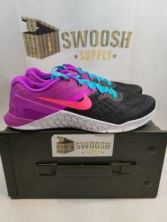 in stock 566bc 61396 Nike Metcon 3 Womens Cross Fit Training Shoes Size 10 New 849807 002