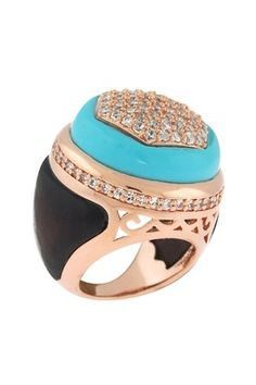 HauteLook | Angelique de Paris Jewelry: Casino Royale Ebony Turquoise Ring