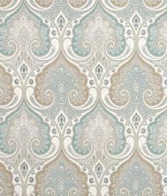 Latika Fabric, Seafoam - traditional - Upholstery Fabric - Barras Fabrics
