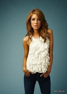 Ruffle Tank and Jeans