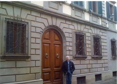 Ron, standing in front of Palazzo Cesarrone , the day we came with realtor.