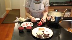#video Three More Bites Presents - Red Velvet Cupcakes - With Ayoe