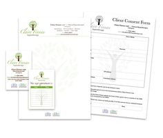 Logo and stationery design for Claire Finnan Hypnotherapy