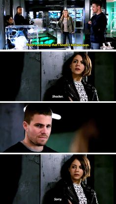 """""""There's something that I haven't told you guys"""" - Oliver, Laurel, Thea and John #Arrow"""