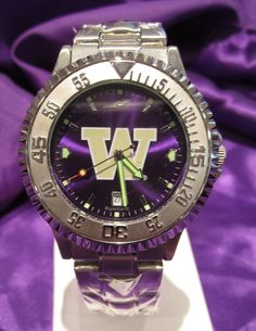 Official Jewelers of the University of Washington Huskies  Stainless UW Watch