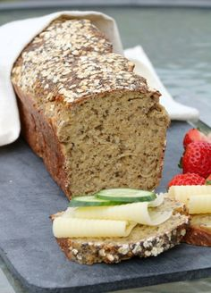 Organic Recipes, Indian Food Recipes, Bread Recipes, Baking Recipes, Foods With Gluten, I Love Food, Banana Bread, Food And Drink, Low Carb