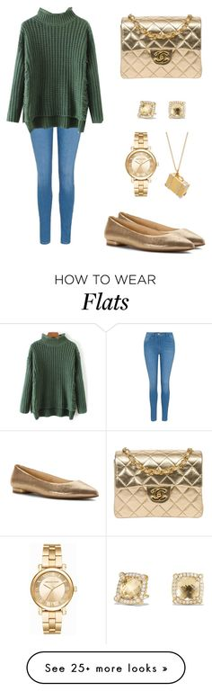 """Chill and Gold"" by danialidan on Polyvore featuring George, Nine West, Alex Monroe, Chanel, Michael Kors and David Yurman"