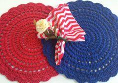 """""""Que tal uma mesa navy ? Muitas cores de Crochê disponíveis"""""""