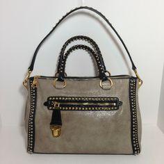 Prada Glac Studded - Rare! Beige Multicolor Bag - Satchel $1,990