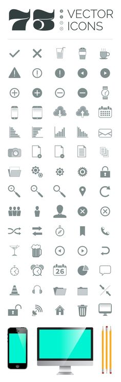Web design freebies, 73 Free Vector Icons http://www.corsowebdesignerfreelance.it