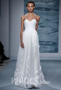 Brides.com: Mark Zunino for Kleinfeld - Fall 2015%0AWedding dress by Mark ZuninoPhoto: Thomas Iannaccone