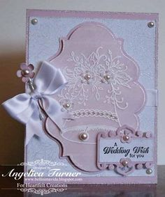 Heartfelt Creations | Pink Bella Rose Wedding Bell