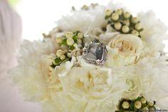 Simple additions make a brides bouquet sentimental. By Regalo Design