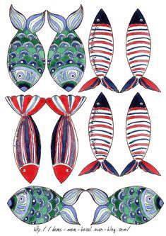illustration poisson bleu p