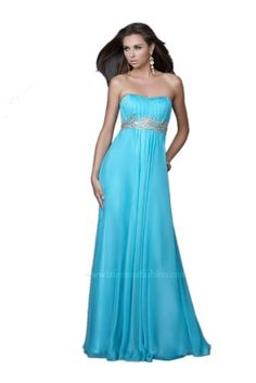 (Limited Supply) Click Image Above: La Femme 15986, Flowing Strapless Gown