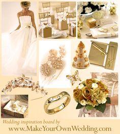 gold and ivory wedding theme | Gold Wedding Theme