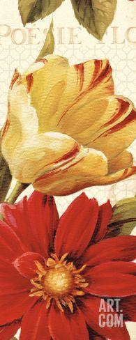 """$75 10.25"""" x 22.25"""" Poesie Florale Panel II Print by Lisa Audit at Art.com"""