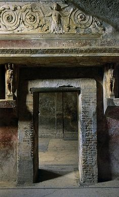 Beautifully preserved doorway, Pompeii Pompeii And Herculaneum, Pompeii Italy,(Ruins) Ancient Ruins, Ancient Rome, Ancient Art, Ancient History, Architecture Antique, Roman Architecture, Architecture Details, Pompeii Italy, Pompeii And Herculaneum