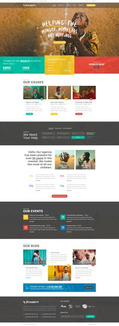 Charity Foundation - Charity Hub PSD Template Do. Web Design Websites, Online Web Design, Web Design Quotes, Web Design Tips, Web Design Trends, Web Design Company, Design Ideas, Ui Design, Design Model