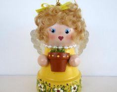 Halloween Scarecrow Flowerpot-Bell Ornament by SanquiCreations