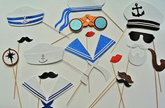 Nautical Photo Booth Props Maritime Captain Sailor #picwrap