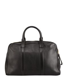 $3,460, Tom Ford Buckley Leather Duffel Bag Small. Sold by Bergdorf Goodman. Click for more info: https://lookastic.com/men/shop_items/142929/redirect