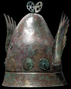 Hellenistic Pilos Type Helmet, 4th-3rd century BC            The pilos was a brimless cap worn in Illyria, Epirus and Ancient Greece and later copied by Ancient Rome.