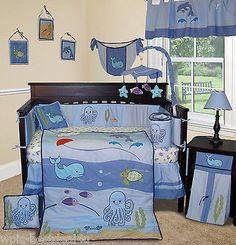 Baby Boutique - Under The Sea13 PCS Boy Crib baby Nursery Bedding Set