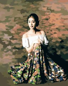 Hand-painted Figure Oil Painting - Oriental Beauty