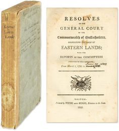 Resolves Of The General Court Of The Commonwealth Of Massachusetts.. | Maine