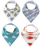 Amazon.com : Matimati Baby Bandana Drool Bibs, Unisex 4-Pack Absorbent Cotton, Cute Baby Gift for Boys & Girls (Arrows & Triangles) : Baby