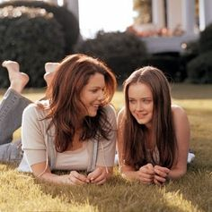 Mother/daughter and best friends.  Wouldn't it be fun to have Lorelai as your mother.