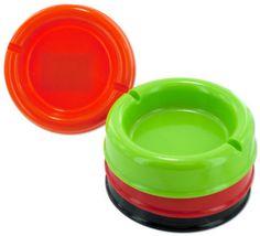 Round Plastic Ashtray Case Pack 12