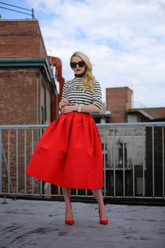 Red and bw stripes. Summer style