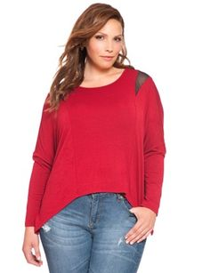 View our Batwing Crop Front Top and shop our selection of plus size designer women's Tops, plus size clothing and fashionable accessories. Plus Size Designers, Pullover, Bat Wings, Plus Size Tops, Bridal Style, Plus Size Outfits, Plus Size Fashion, My Style, Casual