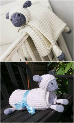 Crochet animals 569353577894330053 - Crochet Animal Lovey Blanket Patterns Perfect For Baby Source by Crochet Unicorn Blanket, Crochet Sheep, Crochet Elephant, Baby Afghan Crochet, Afghan Crochet Patterns, Crochet Animals, Baby Snuggle Blanket, Lovey Blanket, Charm Square Quilt