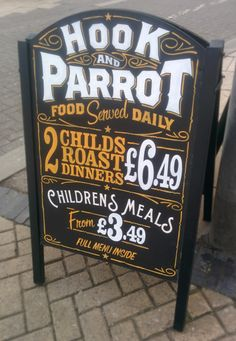 Traditional signwritten pub #SandwichBoard by by Paul Banks #Signwriting and…
