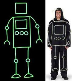 17 Astonishing Glow Stick Ideas For A Kids Party – Glow Stick Wiki Dark Costumes, Robot Costumes, Cute Costumes, Halloween Costumes For Kids, Halloween Diy, Costume Ideas, Halloween Activities, Halloween Stuff, Glow Stick Party