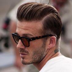 David Beckham Hair Slicked Back