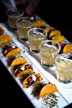 mini tacos and margaritas at your wedding!?! talk to me goose!