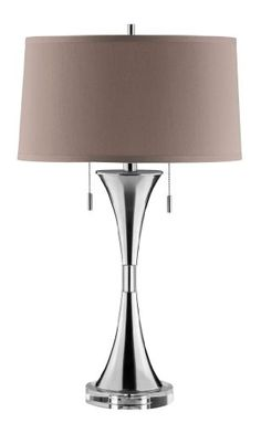 STEIN WORLD 90014 SLENDER HOURGLASS TABLE LAMP - Click image twice for more info - See a larger selection of pull chain table lamps at http://tablelampgallery.com/product-category/pull-chain-table-lamps/ - home, home decor, lamp, lighting , gift ideas.
