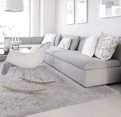 Find images and videos about home, grey and interior on We Heart It - the app to get lost in what you love. Nordic Living Room, Living Room Lounge, Living Room Interior, Home And Living, Front Room Decor, Beautiful Living Rooms, Scandinavian Home, Fashion Room, White Decor