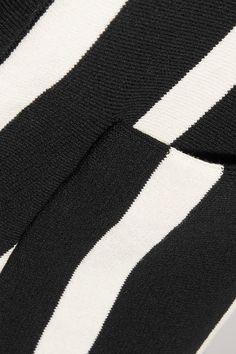 Chloé - Striped Cotton Sweater - Black - x small