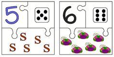 Juf Shanna: Thema Sinterklaas: cijfer combineren met aantal (puzzels)