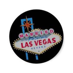 MARRIED In  Fabulous Las Vegas Sticker