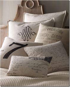 French Laundry linen pillow from Neiman Marcus via Cote de Texas.
