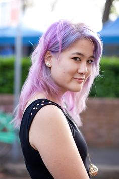 Amazing lilac hair shot by xssat street fashion