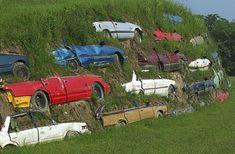 car art unusual garden upcycled recycle installation gypsy